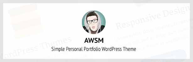 AWSM - Simple Personal Portfolio WordPress Theme