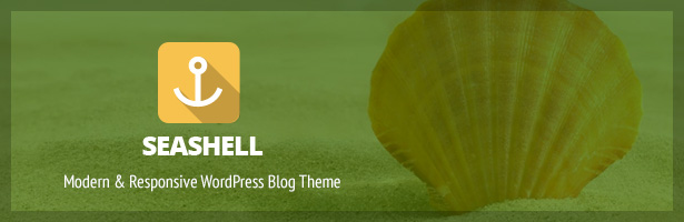 SeaShell - Modern Responsive WordPress Blog Theme