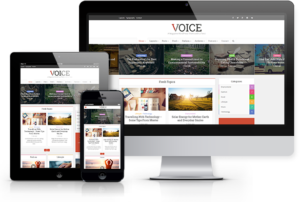 WordPress theme Voice - Clean News/Magazine WordPress Theme (News / Editorial)