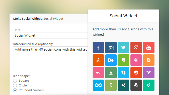 Smart Social Widget