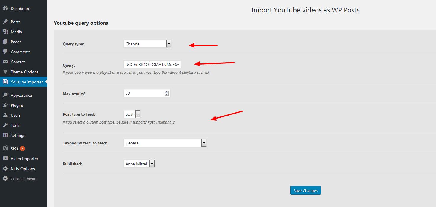 How to get your youtube api key youtube importer - Youtube Importer Settings