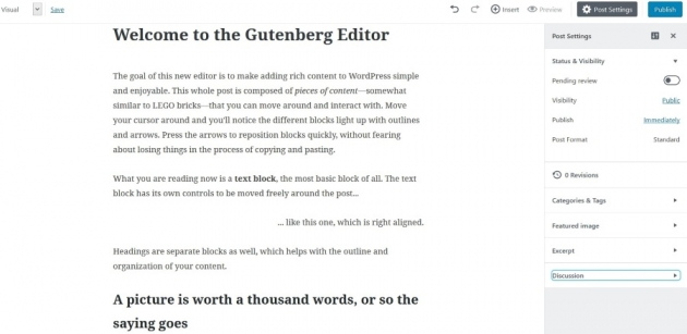 The Gutenberg Editor