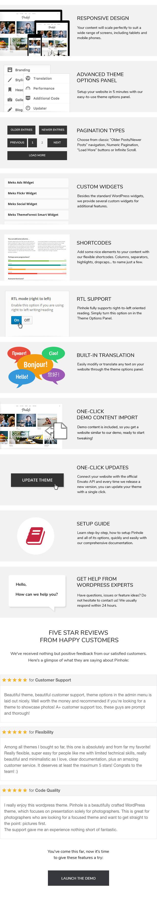 Pinhole - WordPress Gallery Theme for Photographers