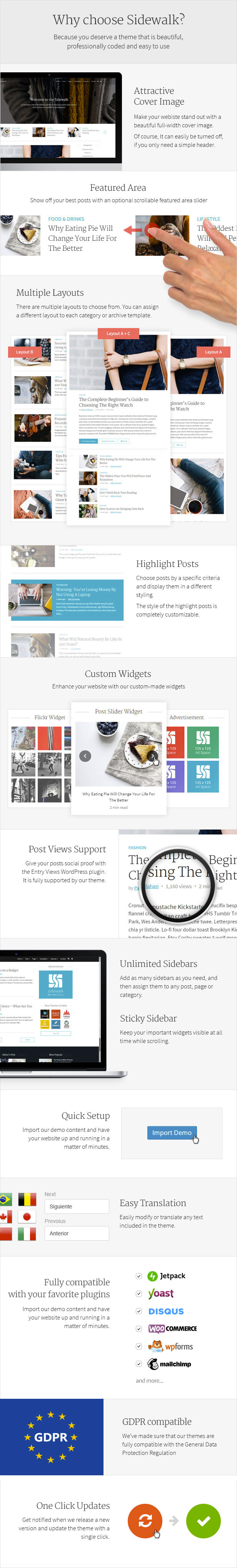 Sidewalk - Elegant Personal Blog WordPress Theme