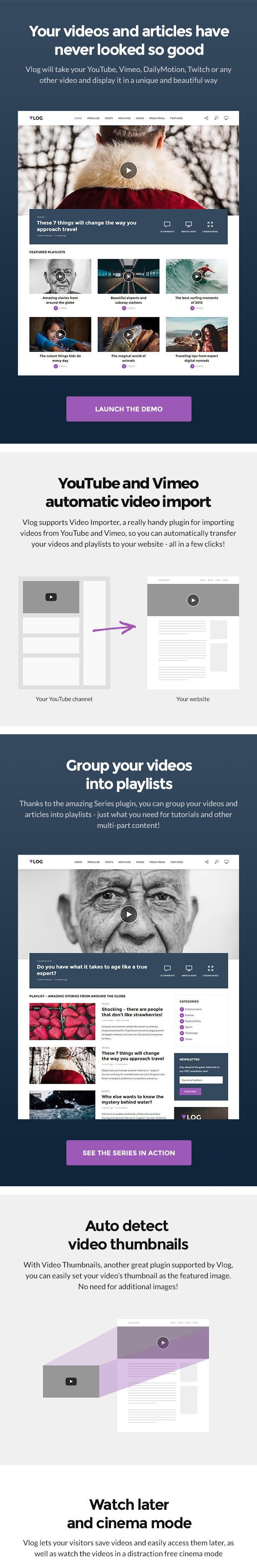 Vlog - Youtube WordPress Theme - 1