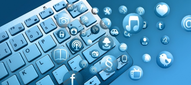 computer keyboard, internet connecting people