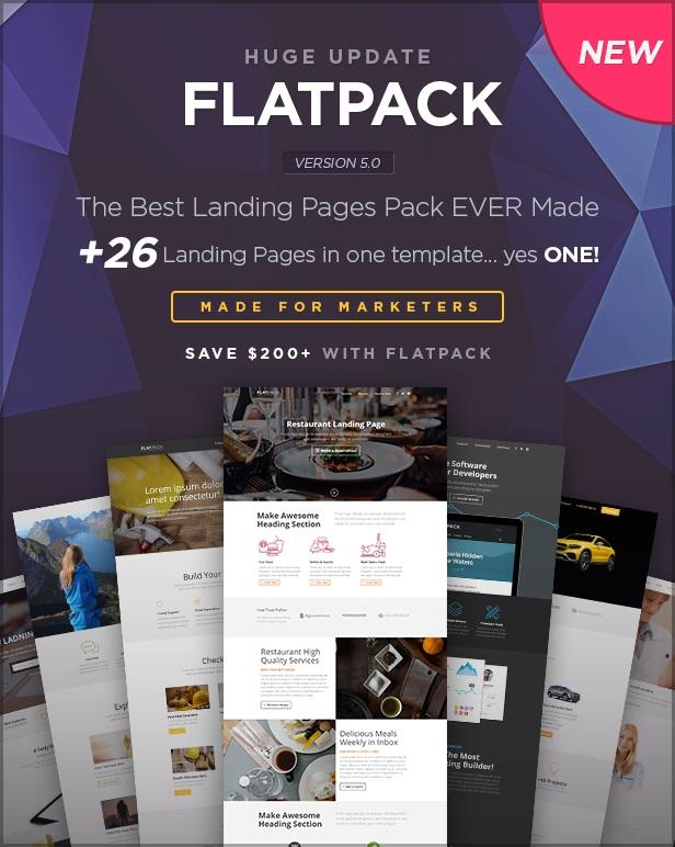 flatpack landing page wordpress themes example