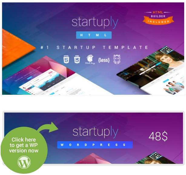startuply landing page wordpress themes examples