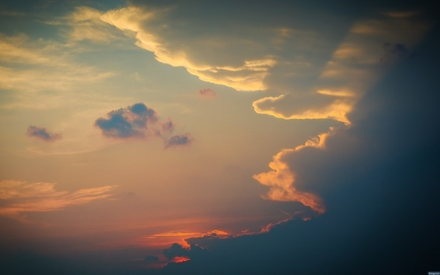 sunset oversky and clouds free fall wallpapers
