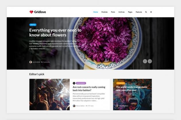 wordpress magazine themes gridlove screenshot